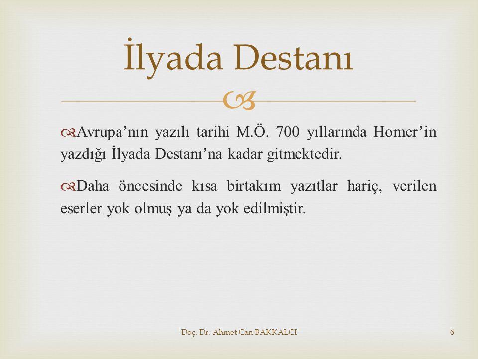 Doç. Dr. Ahmet Can BAKKALCI