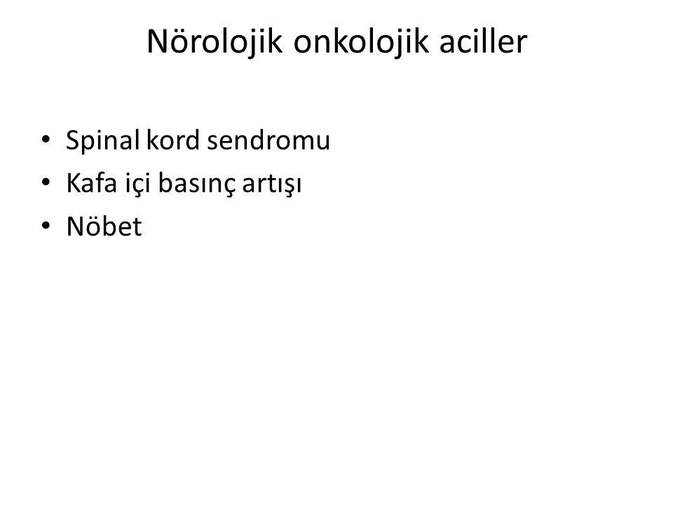 Nörolojik onkolojik aciller