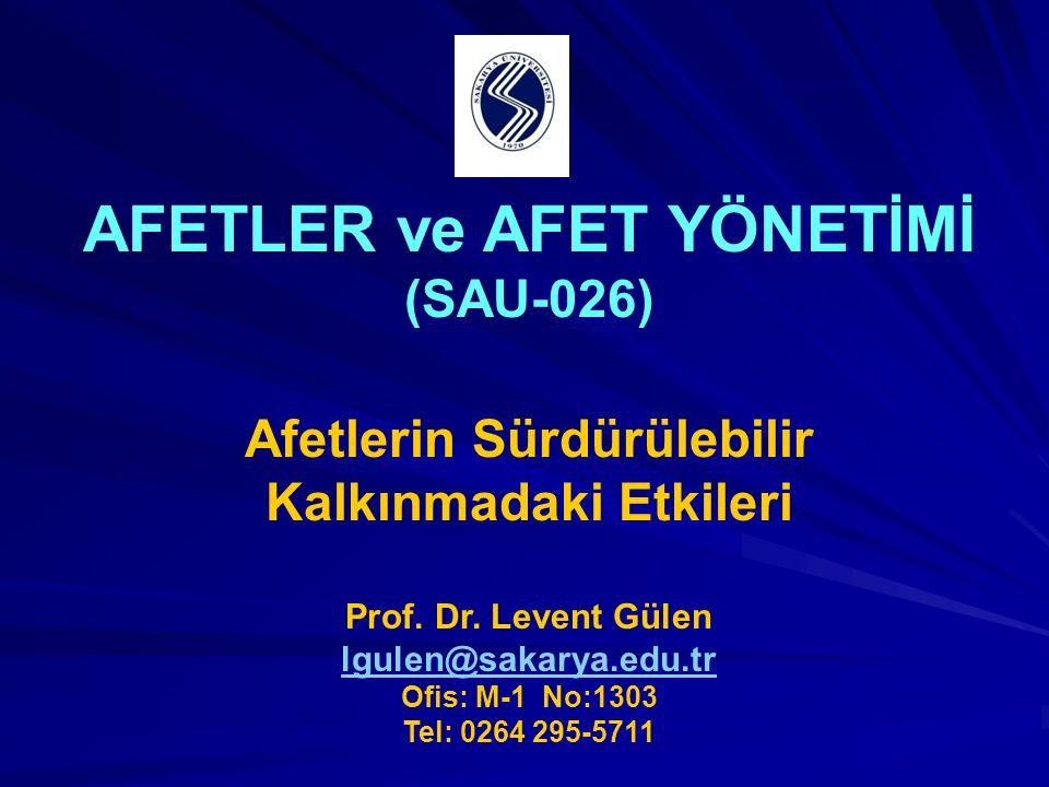 AFETLER ve AFET YÖNETİMİ (SAU-026)