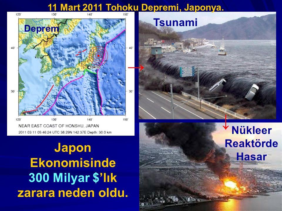 → ↓ Japon Ekonomisinde 300 Milyar $'lık zarara neden oldu. Tsunami