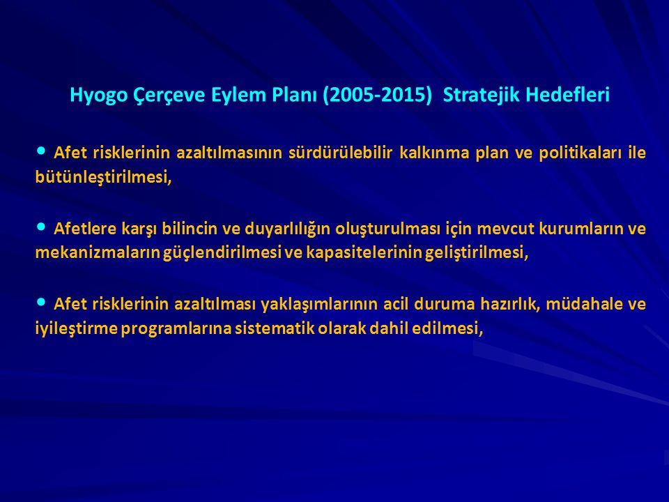 Hyogo Çerçeve Eylem Planı (2005-2015) Stratejik Hedefleri