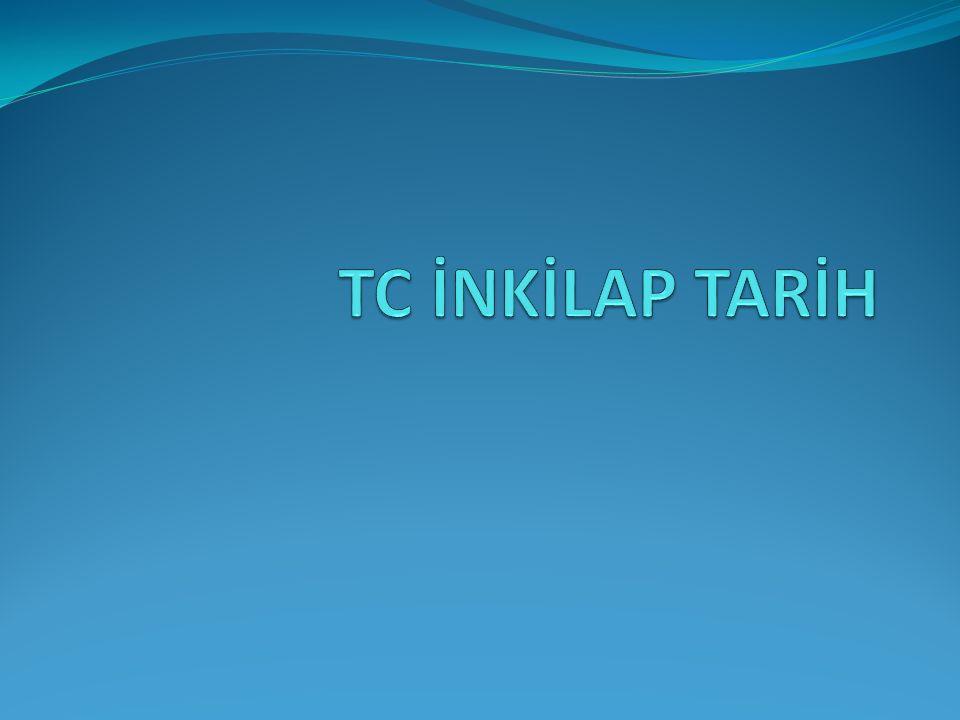 TC İNKİLAP TARİH