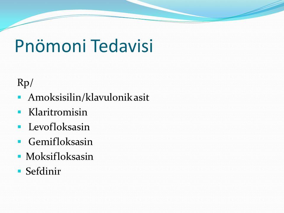 Pnömoni Tedavisi Rp/ Amoksisilin/klavulonik asit Klaritromisin