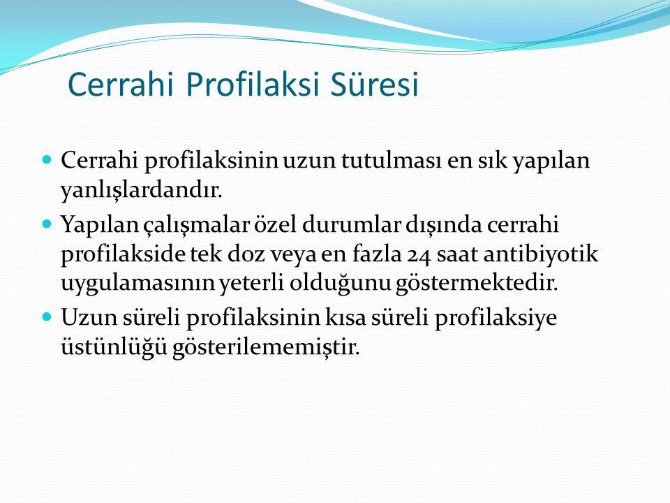 Cerrahi Profilaksi Süresi