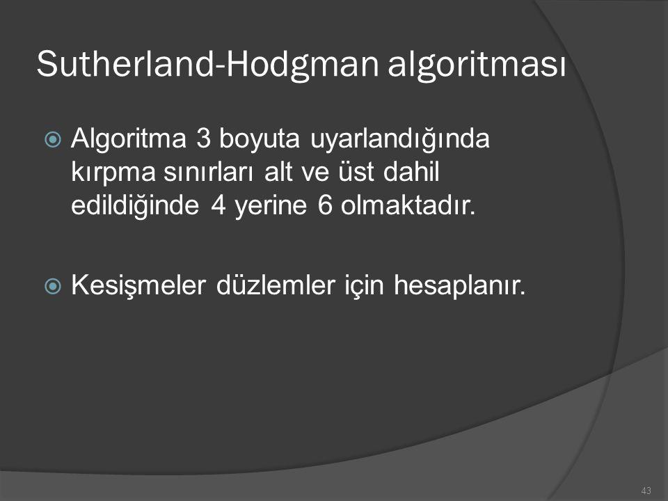 Sutherland-Hodgman algoritması