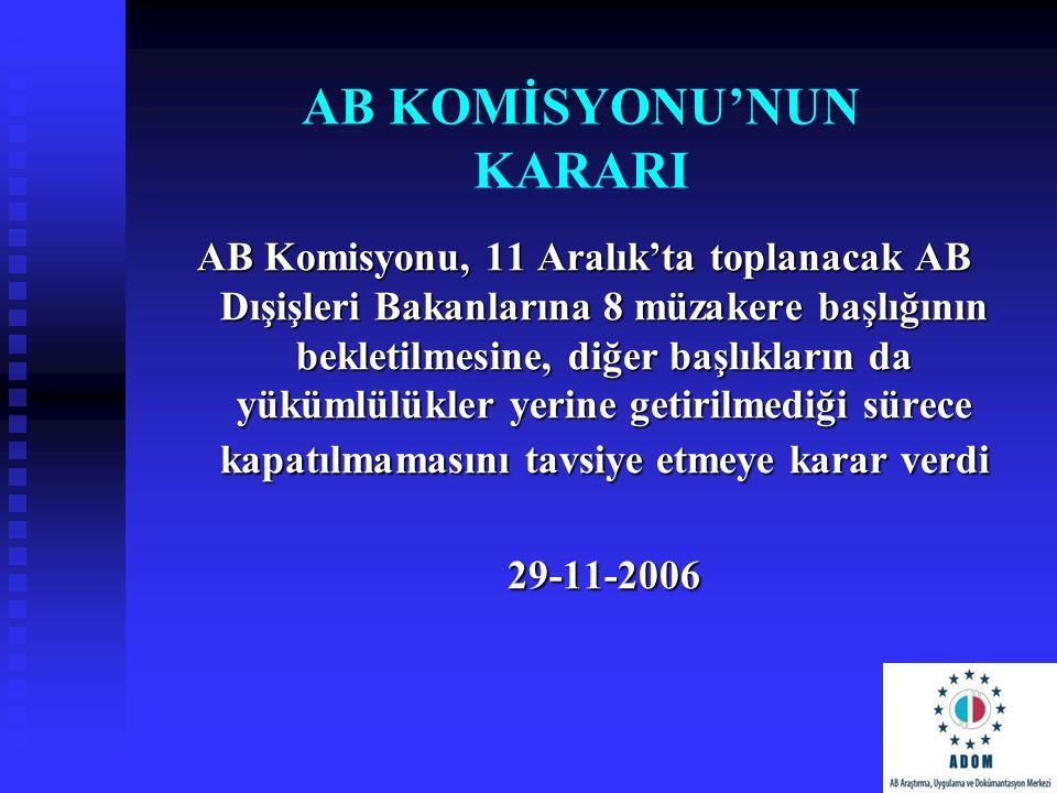 AB KOMİSYONU'NUN KARARI