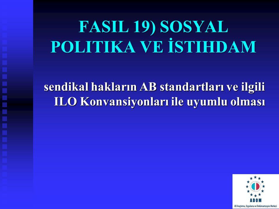 FasIl 19) Sosyal Politika ve İstihdam