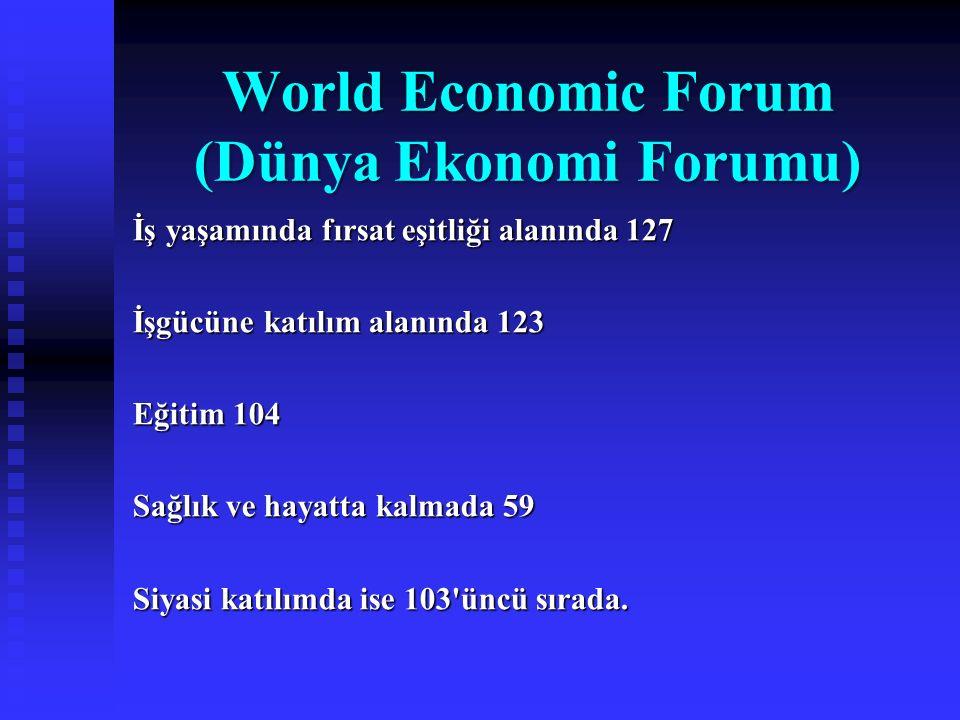 World Economic Forum (Dünya Ekonomi Forumu)