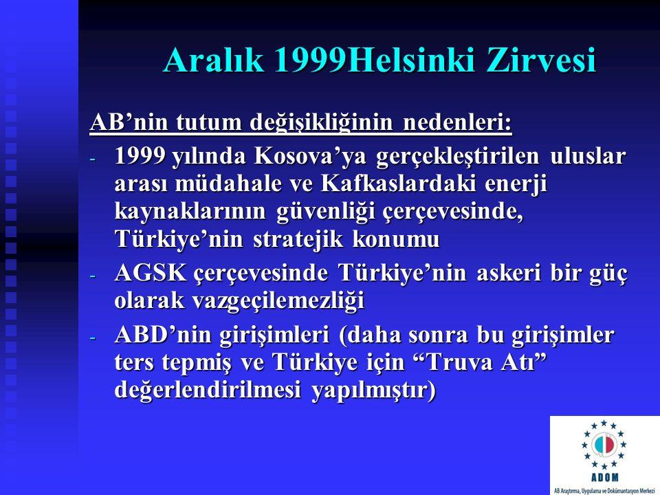 Aralık 1999Helsinki Zirvesi