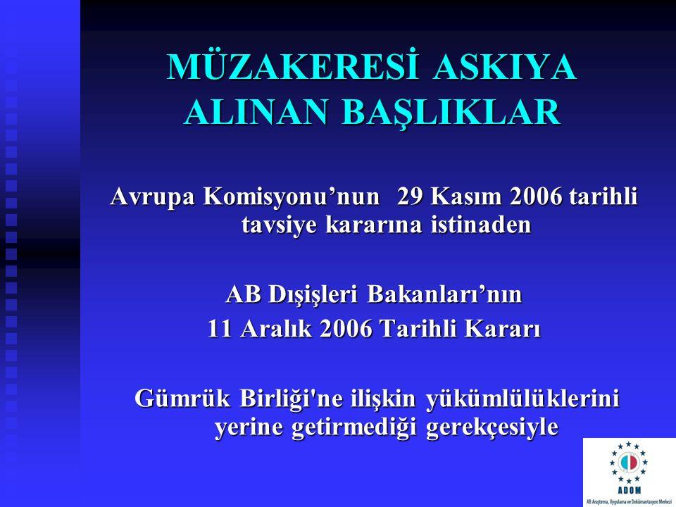 MÜZAKERESİ ASKIYA ALINAN BAŞLIKLAR