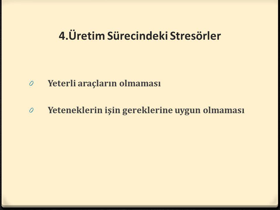 4.Üretim Sürecindeki Stresörler