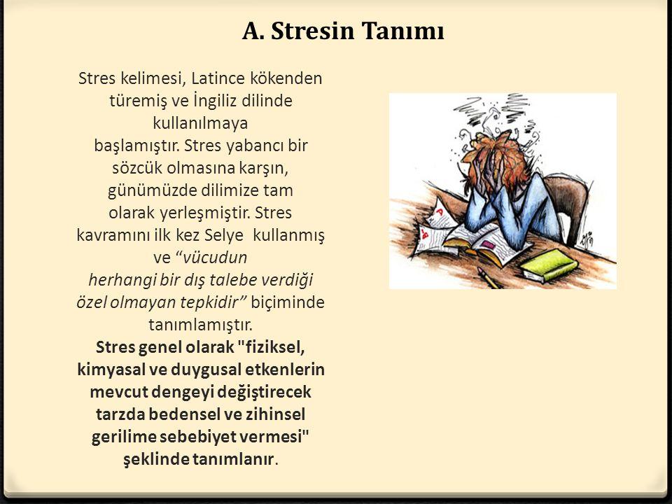 A. Stresin Tanımı