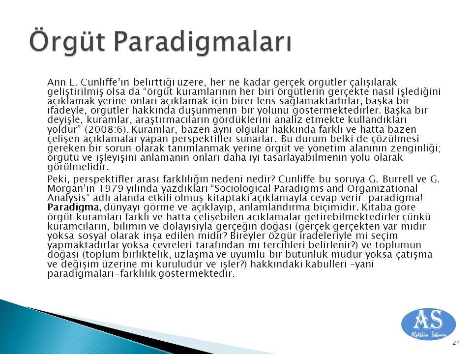 Örgüt Paradigmaları