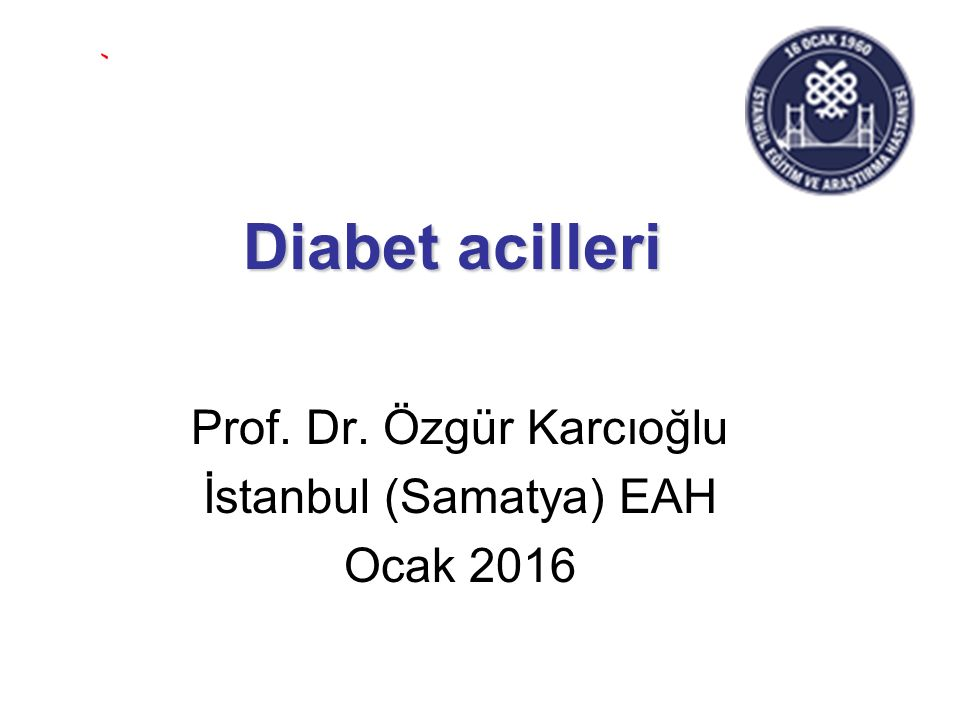 Prof. Dr. Özgür Karcıoğlu İstanbul (Samatya) EAH Ocak 2016