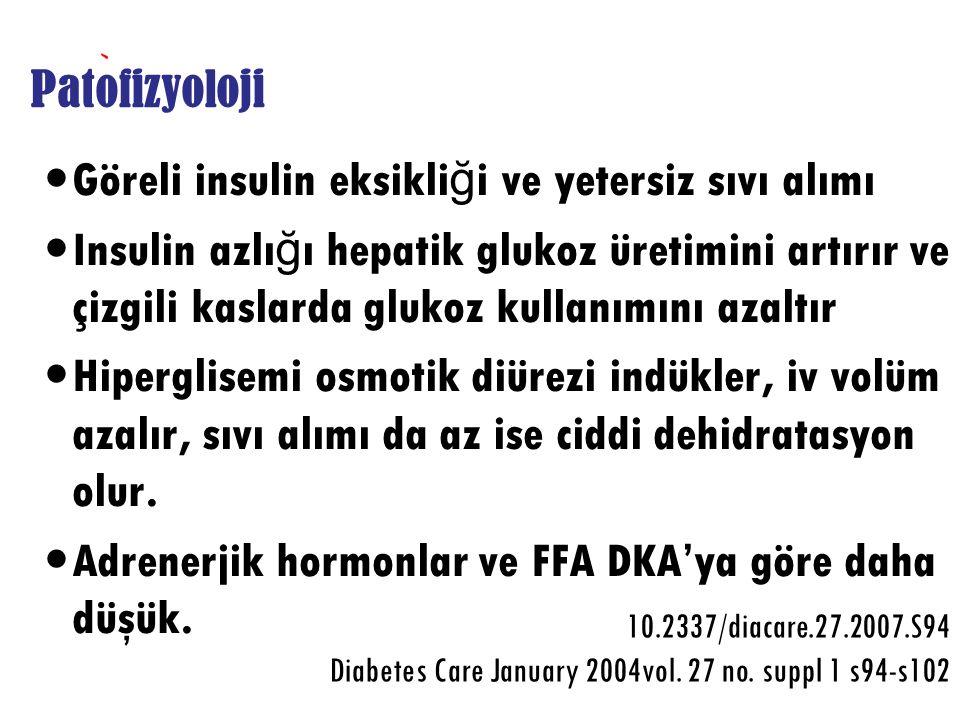 Göreli insulin eksikliği ve yetersiz sıvı alımı