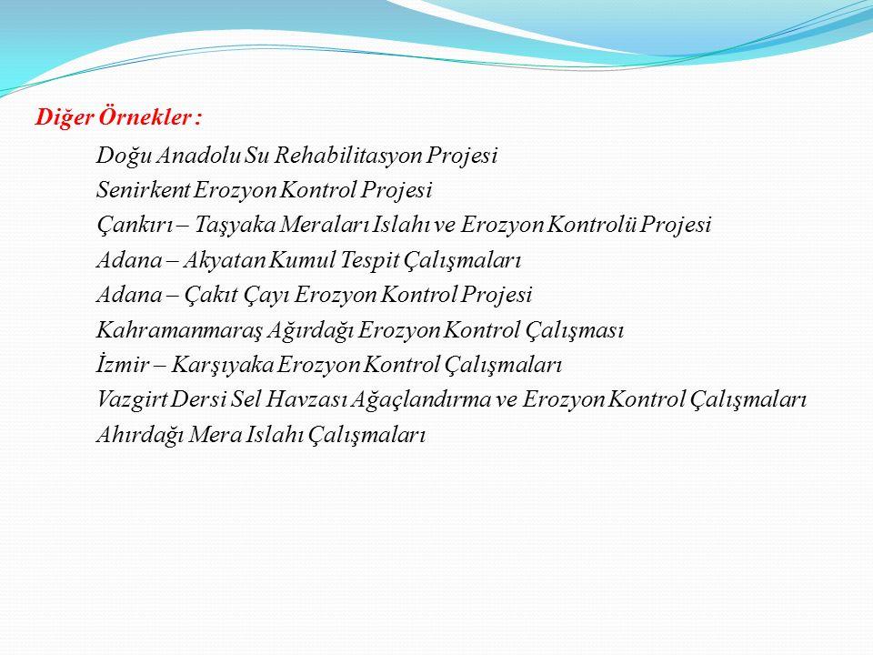 Diğer Örnekler : Doğu Anadolu Su Rehabilitasyon Projesi