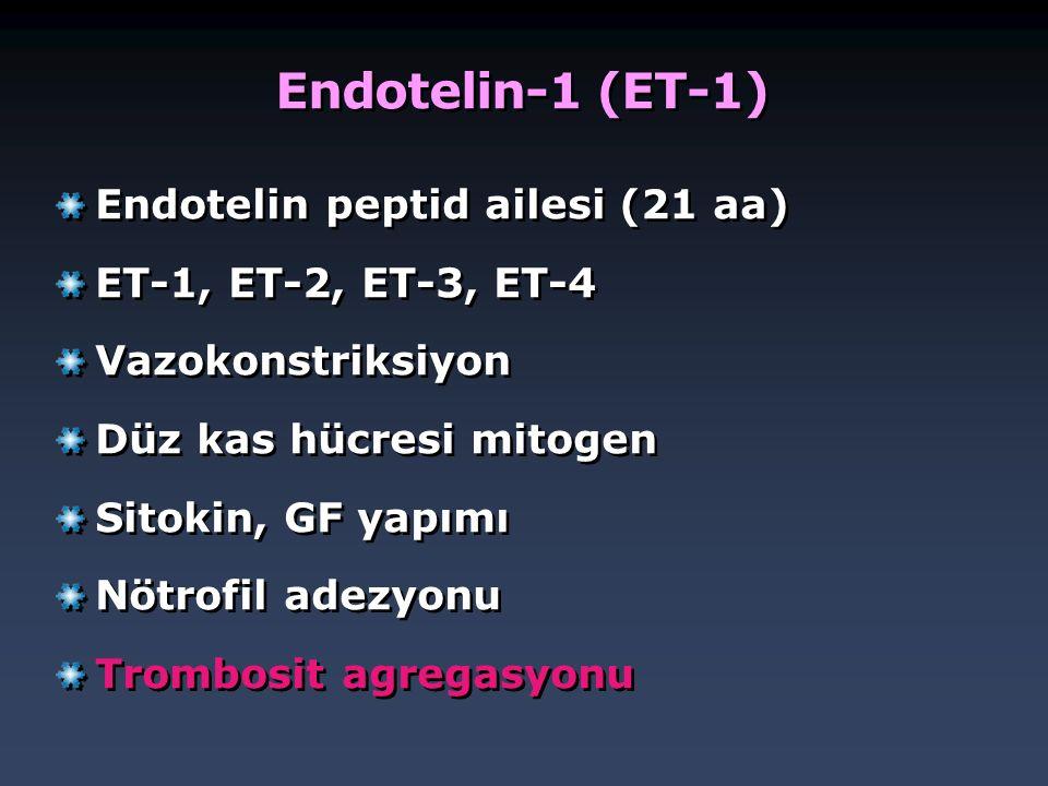 Endotelin-1 (ET-1) Endotelin peptid ailesi (21 aa)