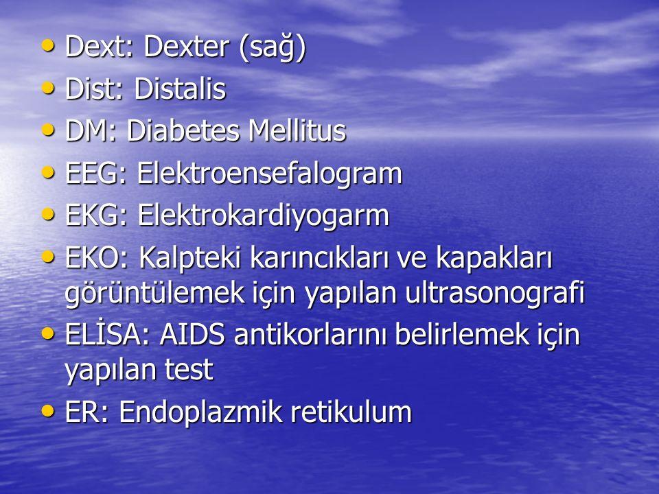 EEG: Elektroensefalogram EKG: Elektrokardiyogarm