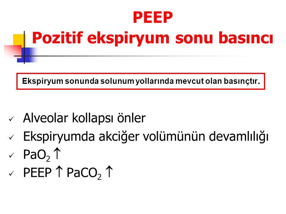 PEEP Pozitif ekspiryum sonu basıncı
