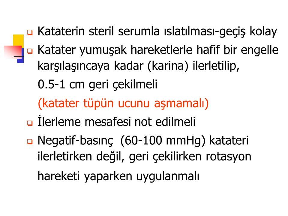 Kataterin steril serumla ıslatılması-geçiş kolay