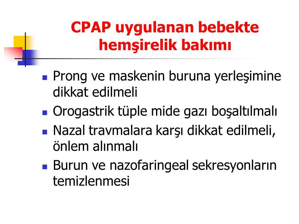 CPAP uygulanan bebekte hemşirelik bakımı