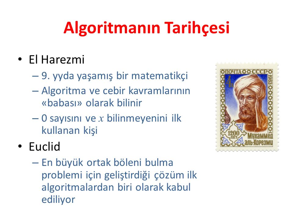 Algoritmanın Tarihçesi