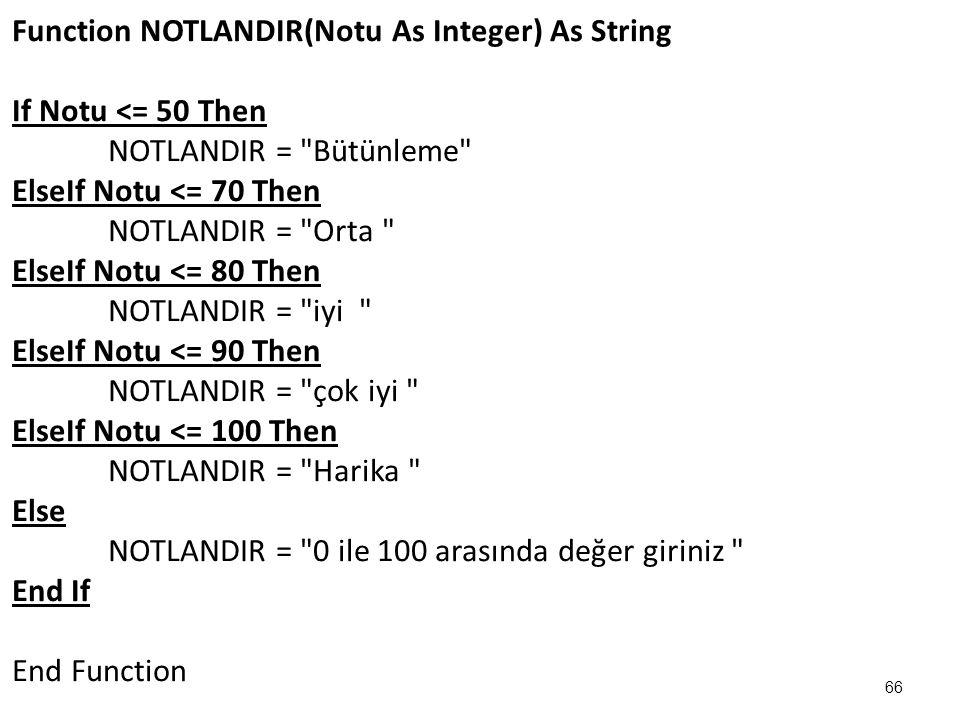Function NOTLANDIR(Notu As Integer) As String