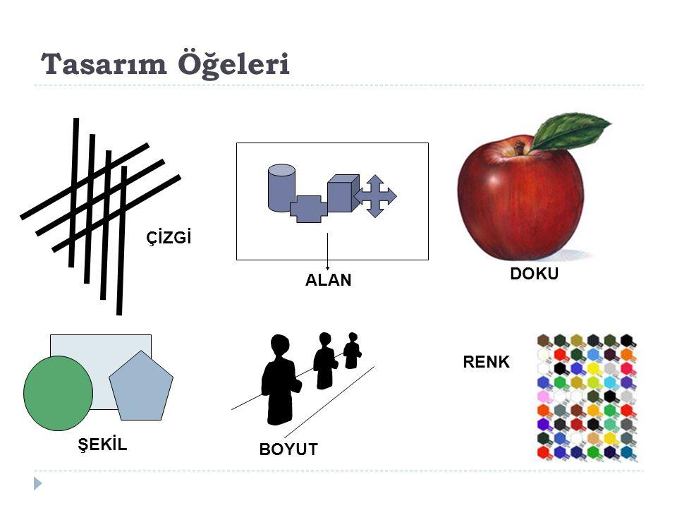 Tasarım Öğeleri ÇİZGİ ŞEKİL ALAN BOYUT DOKU RENK