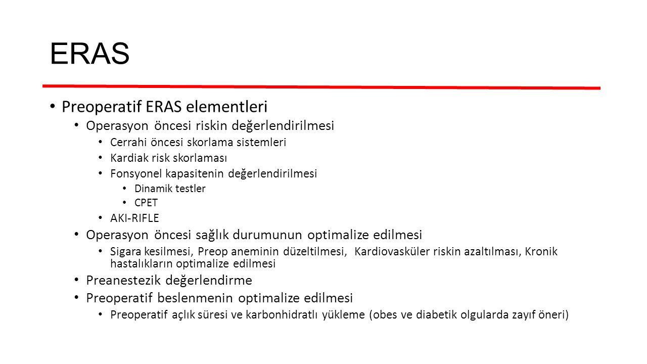 ERAS Preoperatif ERAS elementleri