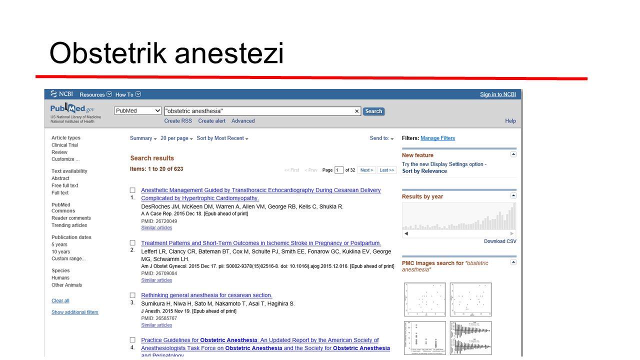 Obstetrik anestezi