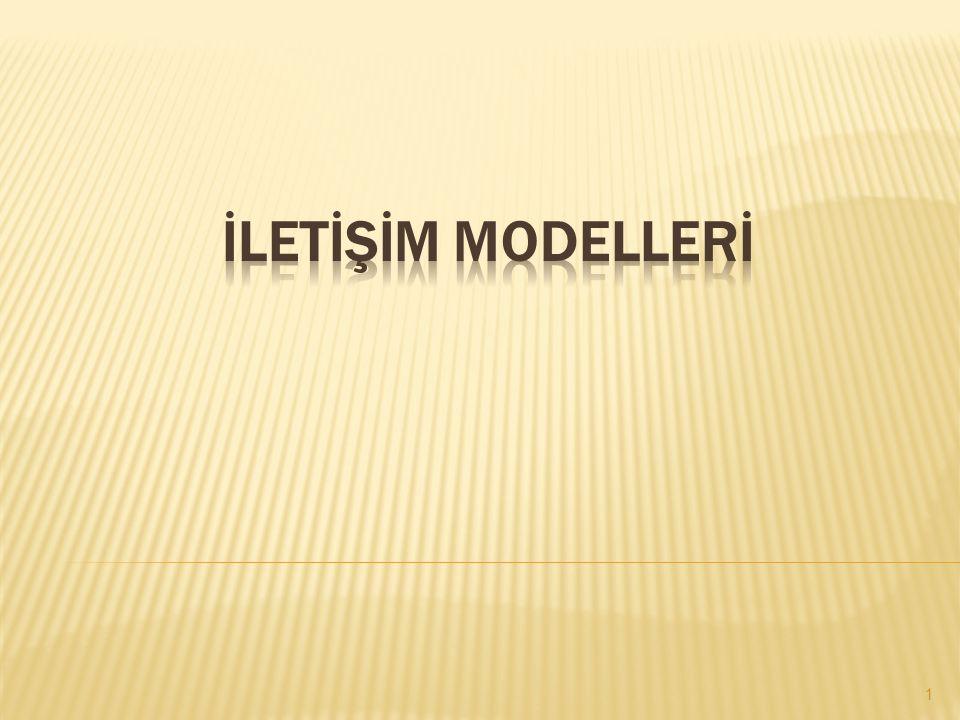 İLETİŞİM MODELLERİ