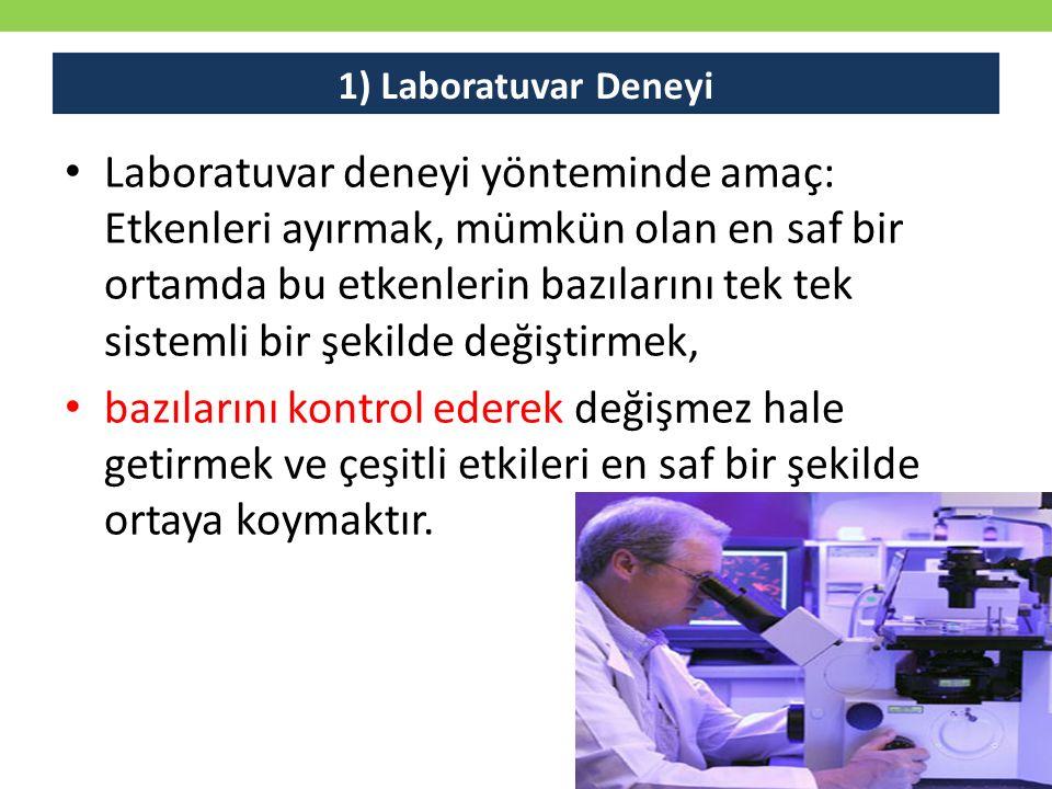 1) Laboratuvar Deneyi