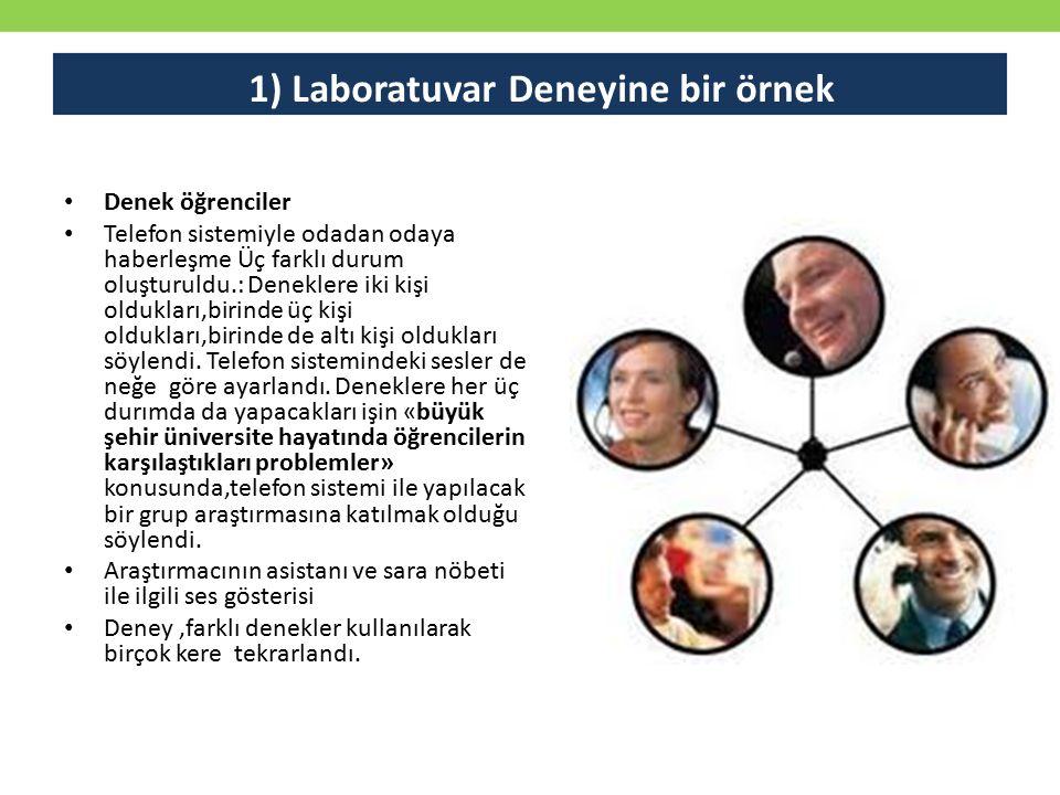 1) Laboratuvar Deneyine bir örnek