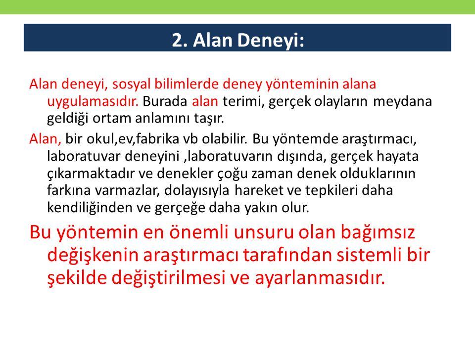 2. Alan Deneyi: