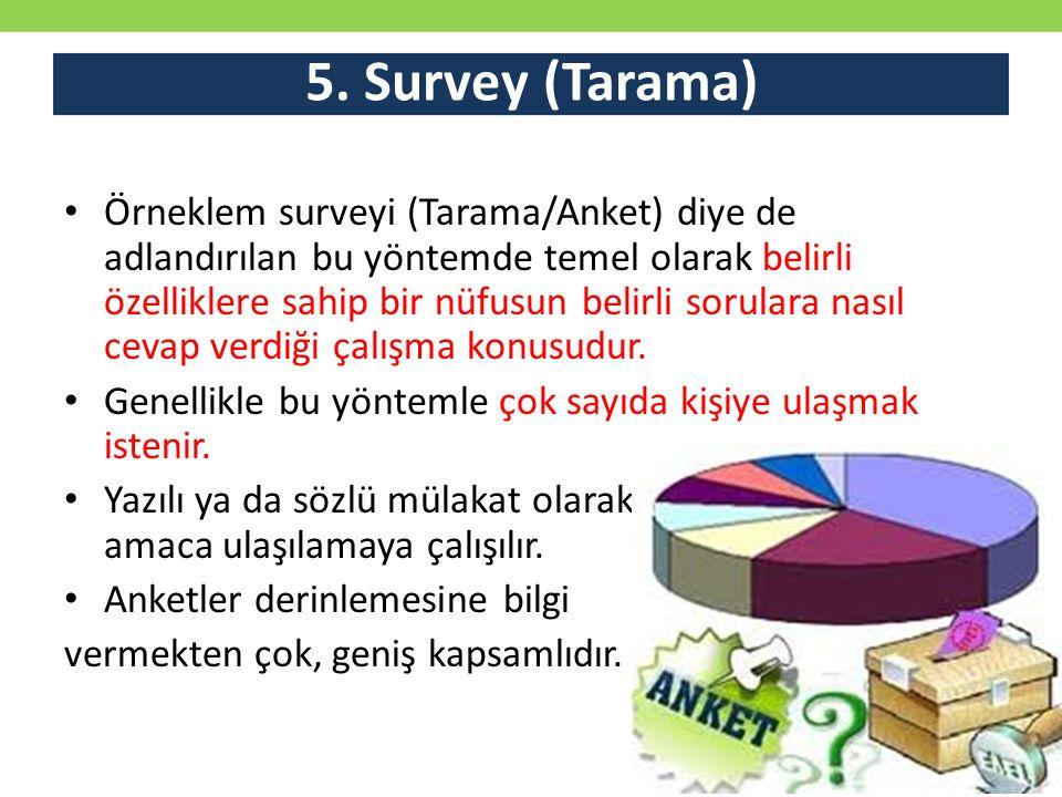 5. Survey (Tarama)