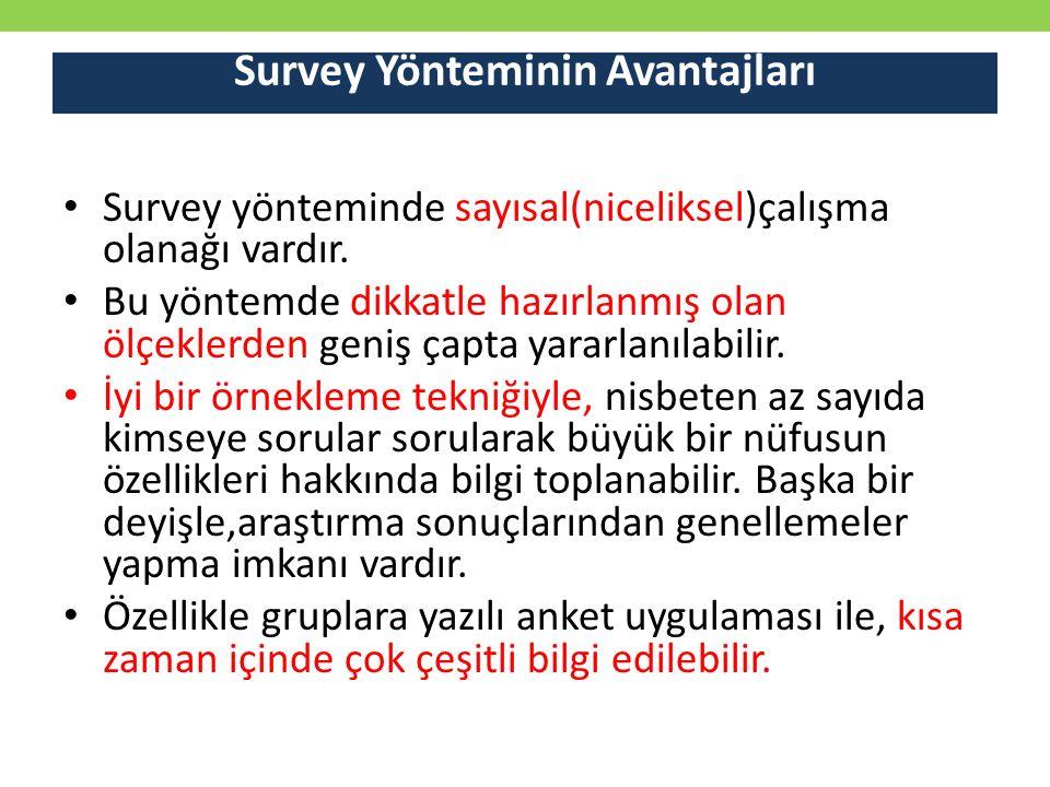 Survey Yönteminin Avantajları
