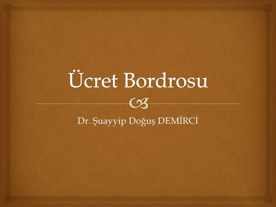 Dr. Şuayyip Doğuş DEMİRCİ