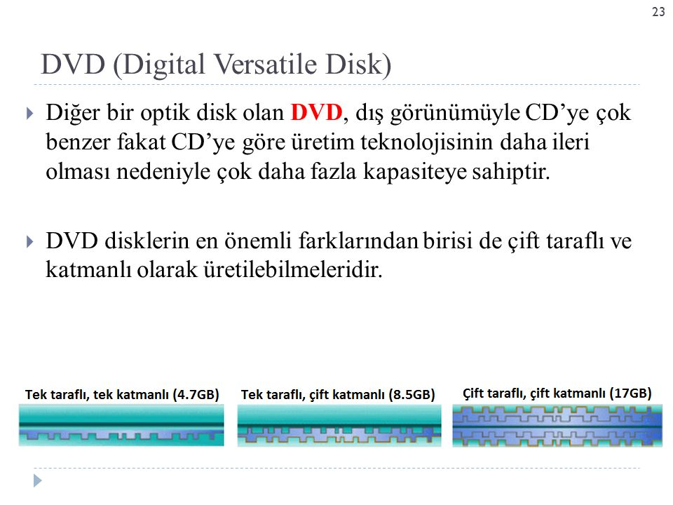 DVD (Digital Versatile Disk)