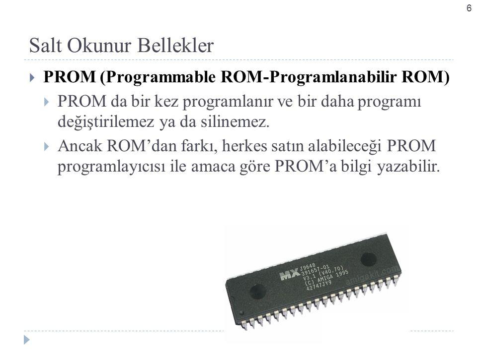 Salt Okunur Bellekler PROM (Programmable ROM-Programlanabilir ROM)