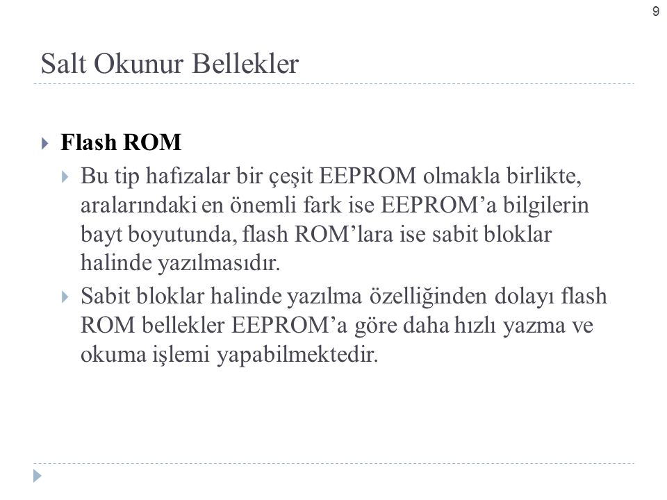Salt Okunur Bellekler Flash ROM