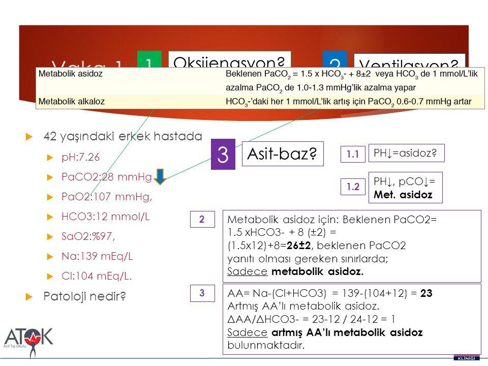 Vaka 1 1 2 3 Oksijenasyon Ventilasyon Asit-baz