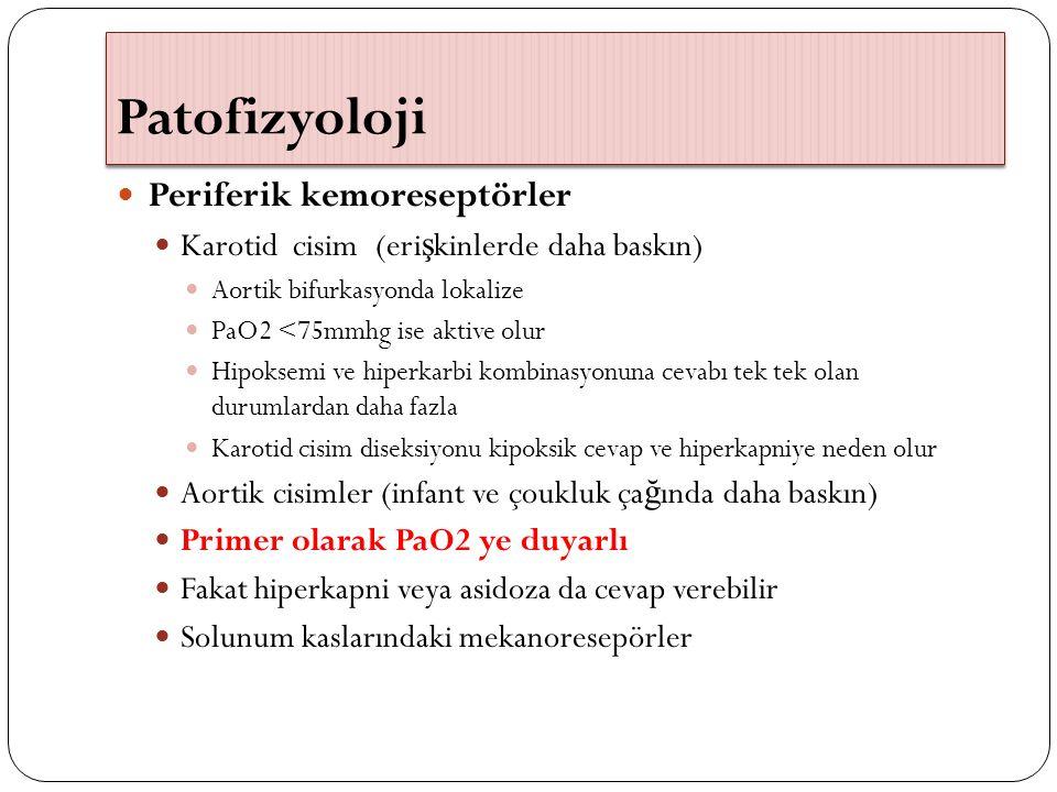 Patofizyoloji Periferik kemoreseptörler