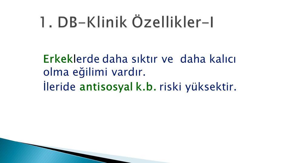 1. DB-Klinik Özellikler-I