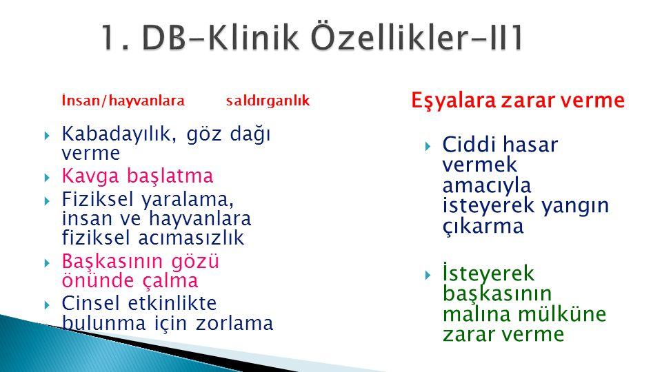 1. DB-Klinik Özellikler-II1