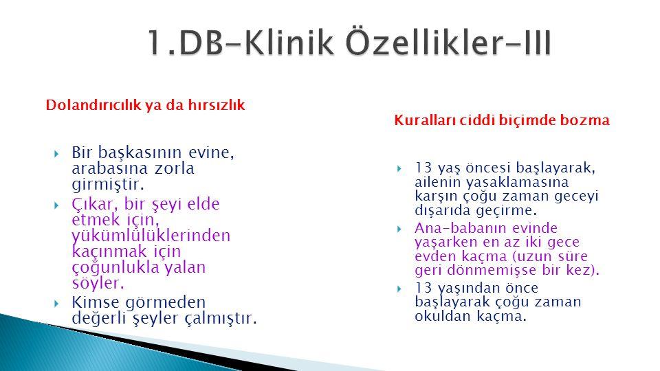 1.DB-Klinik Özellikler-III
