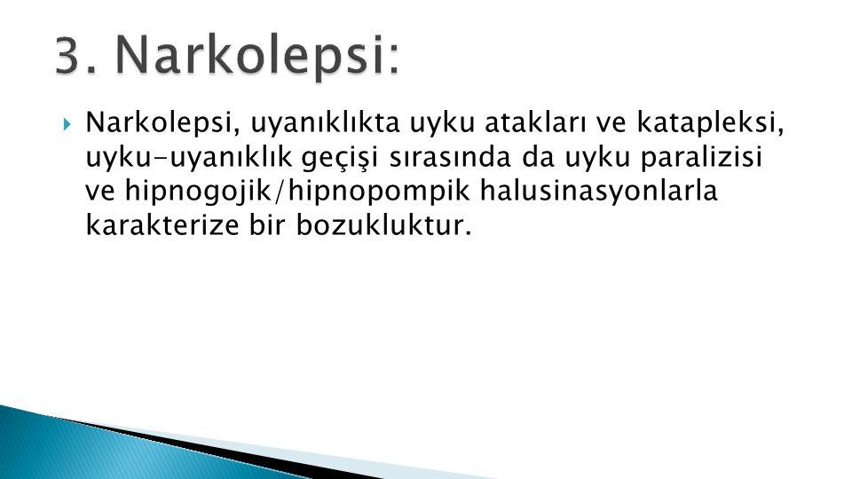 3. Narkolepsi: