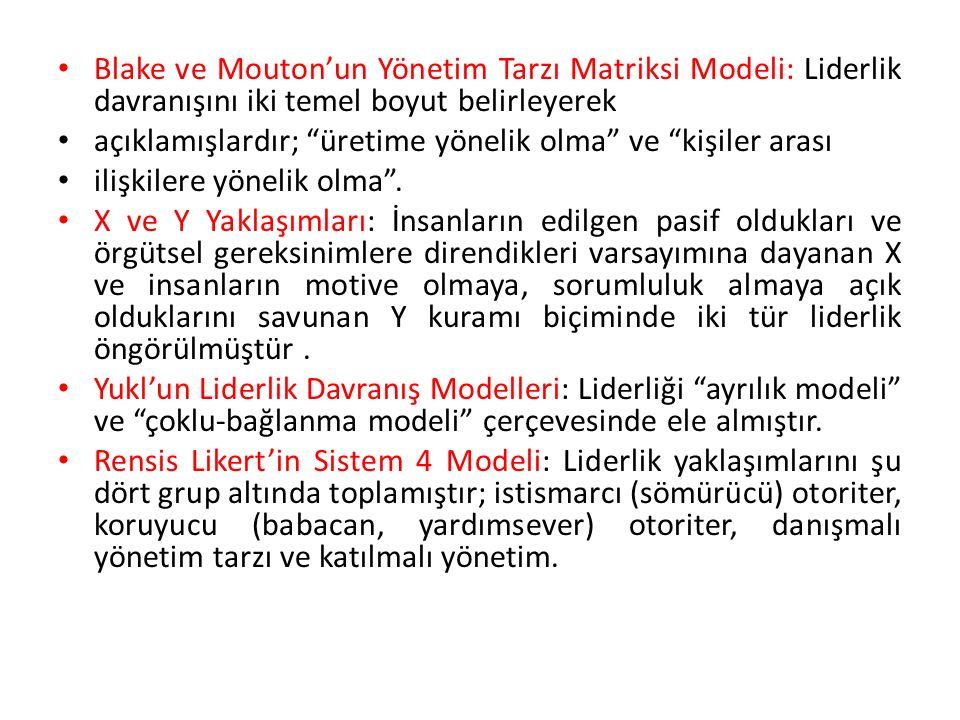 Blake ve Mouton'un Yönetim Tarzı Matriksi Modeli: Liderlik davranışını iki temel boyut belirleyerek