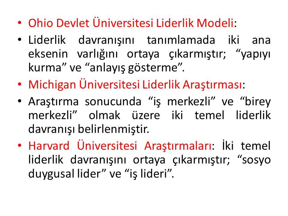 Ohio Devlet Üniversitesi Liderlik Modeli: