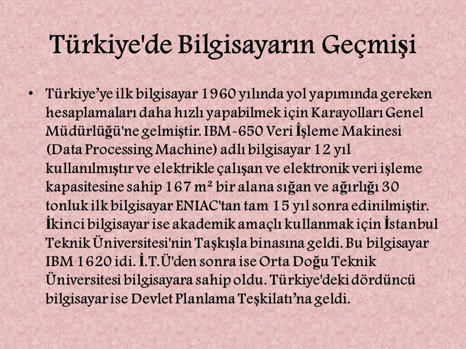 Türkiye de Bilgisayarın Geçmişi
