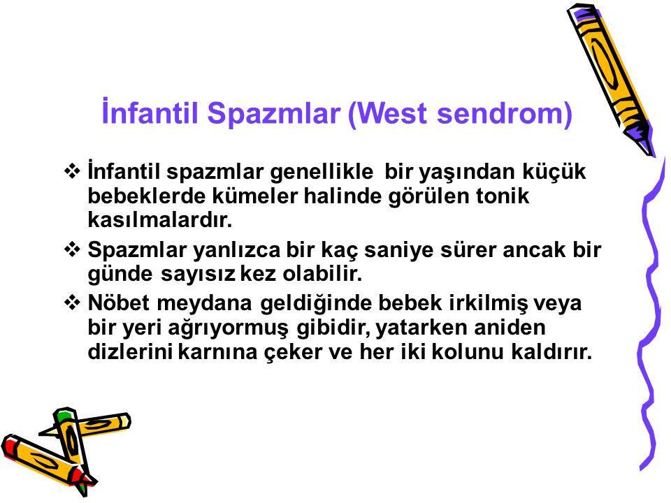 İnfantil Spazmlar (West sendrom)